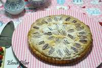Tarta con nueces pecanas y chocolate