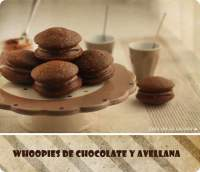 Whoopies de chocolate y avellana