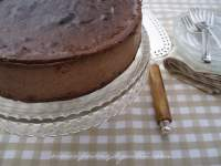 TARTA DE QUESO CHOCOLATEADA