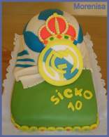 Tarta Real Madrid (Fondant)