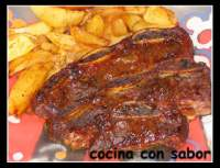 Churrasco lacado al horno