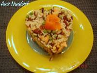 ARROZ INTEGRAL CON SALMON Y PASAS