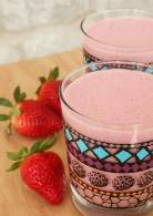 Batido de fresa {Strawberry smoothie}