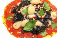 Gnocchi with Red Kale, Taleggio, Chilli, Pine Nuts & Basil