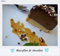 Bizcoflan de chocolate