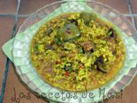 Arroz con gallo de campo