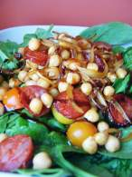 ENSALADA TEMPLADA DE GARBANZOS Y CHORIZO / WARM CHICKPEA AND CHORIZO SALAD