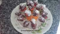 Brocheta de fresas con chocolate