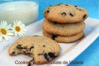 COOKIES CON CHOCOLATE DE VIOLETA