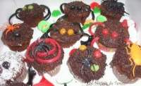 Muffins de Chocolate para Halloween