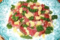 Carpaccio of Welsh Black Beef, Rocket Salmoriglio, Old Winchester