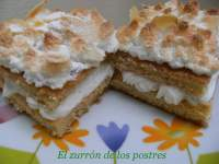 Tartitas de nata y merengue