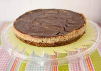 Chocolate Galaxy Banana Cheesecake. Apta para APLV y huevo.