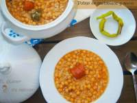 POTAJE DE GARBANZOS Y ARROZ