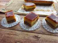 cheesecake de mascarpone con toffee