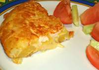 Tortilla de papas con jamon y queso