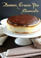 BOSTON CREAM PIE CHEESECAKE (BOSTON STYLE CHEESECAKE)