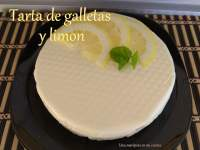 Tarta de galletas y limon