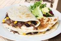 Quesadillas de ternera y frijoles