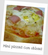 MINI PIZZAS CON OBLEAS