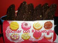 Biscotti de chocolate y avellanas