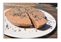 Tarta de yogurt y chocolate