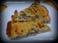 Quiche de puerro y bacon