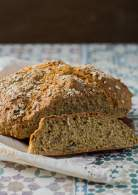 Pan de soda semi integral con semillas | Irish soda bread