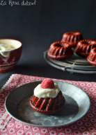 MIni bundt cakes red velvet sin lactosa