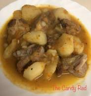 Guiso de costilla de cerdo con patatas   The Candy Red