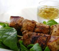 Brochetas Coronation Chicken