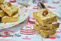 Blondies con pecanas y glaseado de Baileys