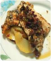 the sisters kitchen: Filete de dorada a la plancha con sofrito de jamón